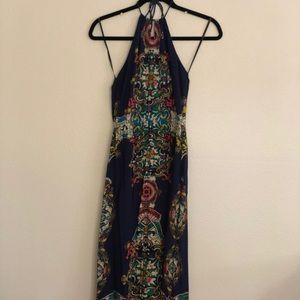 Long blue maxi dress